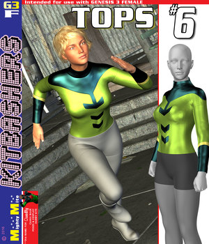 MMKBG3F Tops 006 3D Figure Assets MightyMite