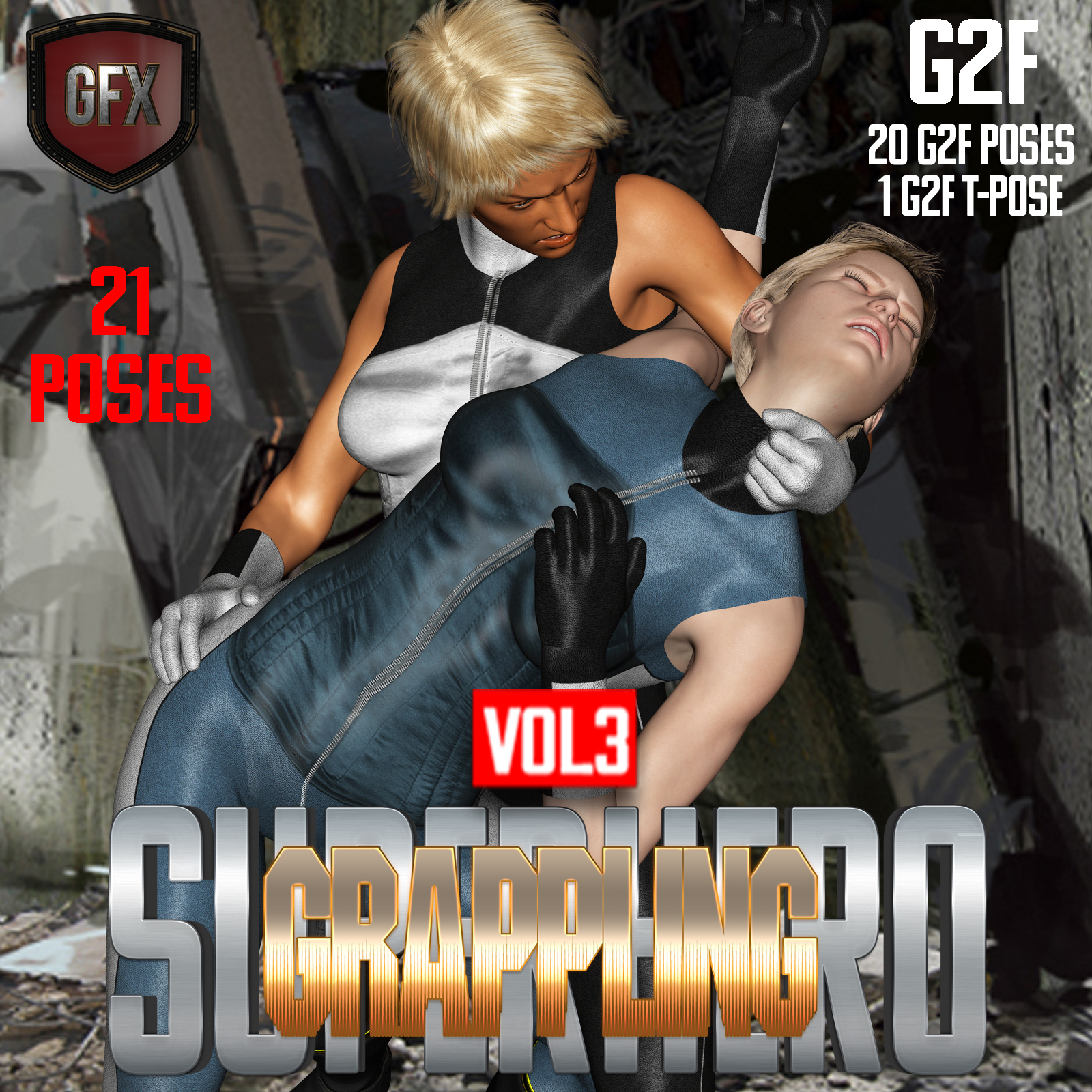 SuperHero Grappling for G2F Volume 3