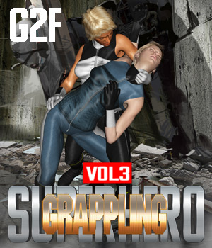 SuperHero Grappling for G2F Volume 3 3D Figure Assets GriffinFX