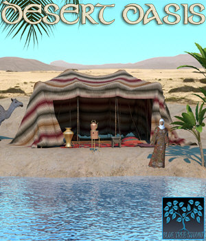 Desert Oasis for Poser 3D Models BlueTreeStudio