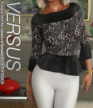 VERSUS - Trumpet Shirt for Genesis 8 Females 3D Figure Assets Anagord