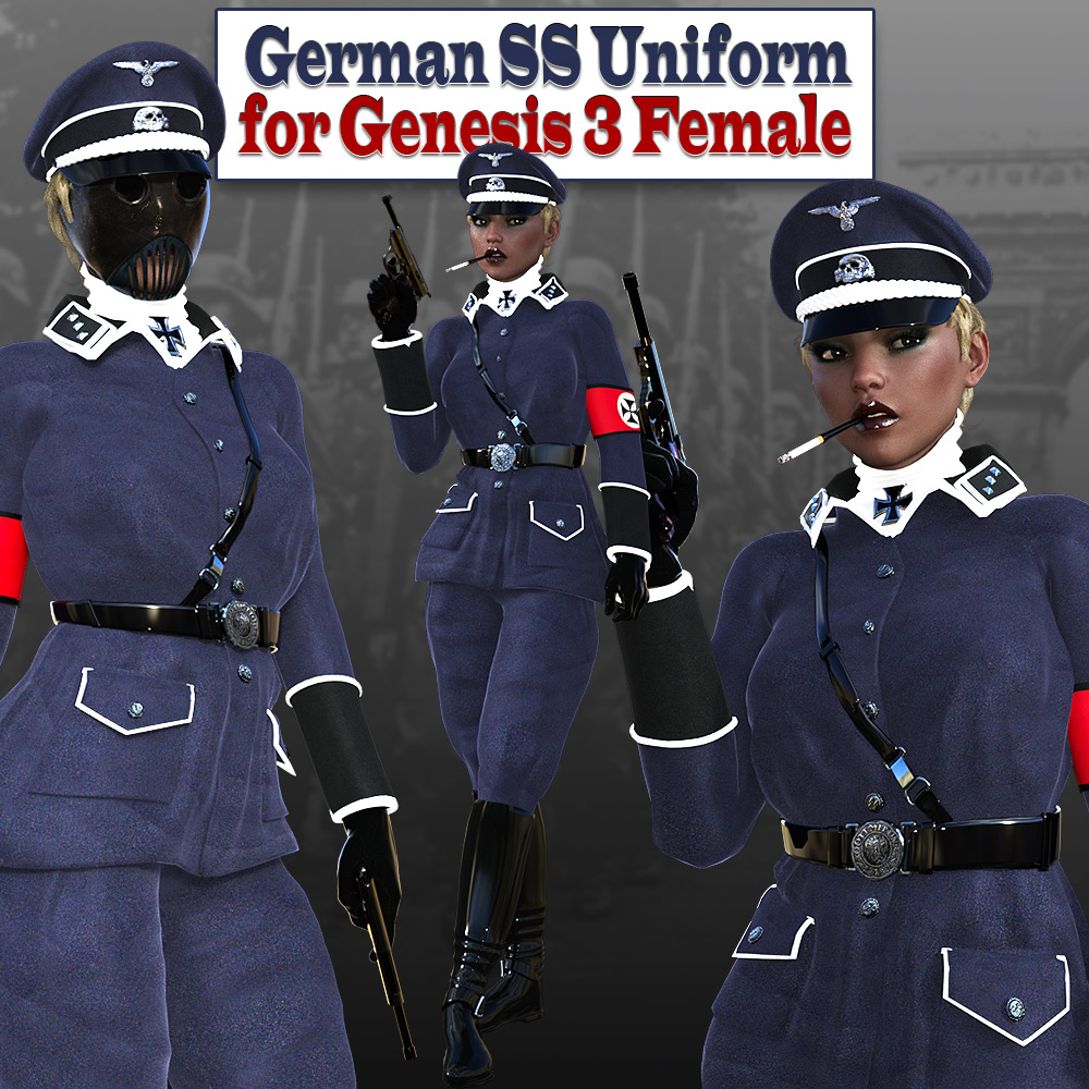 German SS Uniform for G3 females 3D Figure Assets powerage