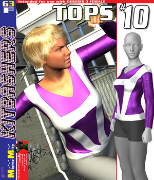 MMKBG3F Tops 010 3D Figure Assets MightyMite