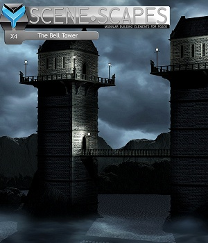 SceneScapes X4 -The Bell Tower 3D Models MortemVetus
