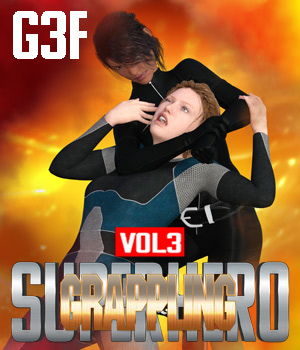 SuperHero Grappling for G3F Volume 3 3D Figure Assets GriffinFX