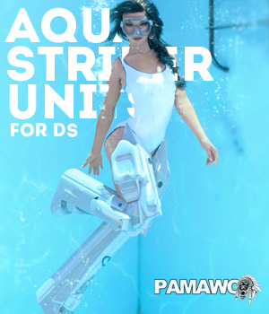 Aqua Striker Units GF8 for DS 3D Figure Assets pamawo