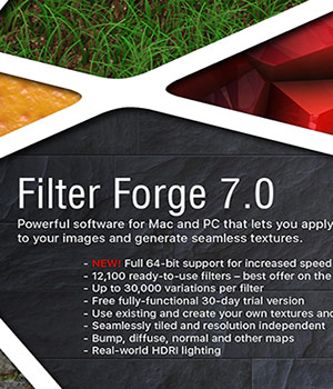 Filter Forge 7.0 Basic Edition - Windows Version 3D Software : Poser : Daz Studio : iClone FilterForge