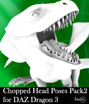 Chopped Head Poses Pack 2 for DAZ Dragon 3 3D Figure Assets biala