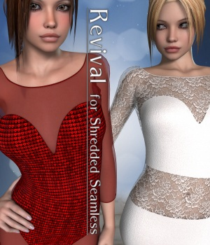 Revival for Shredded Seamless V4_Poser 3D Figure Assets DivabugDesigns