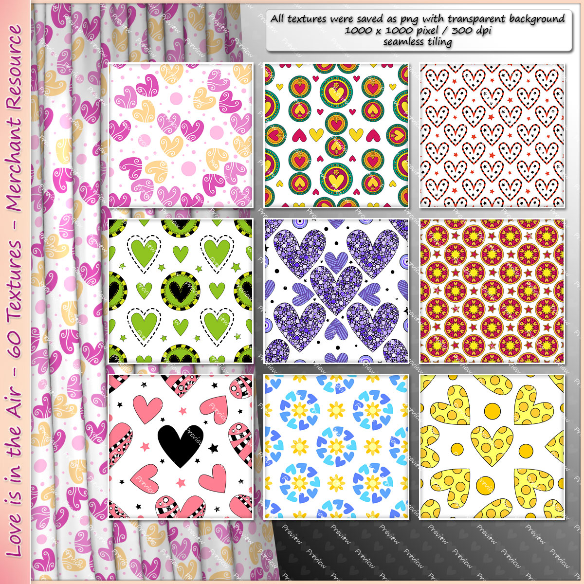 Love is in the Air - 60 Valentine Textures - Merchant Resource