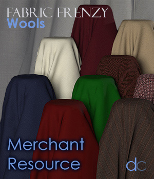 Fabric Frenzy: Wools PBR Textures and Poser Shaders 3D Figure Assets Merchant Resources Deecey