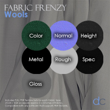 Fabric Frenzy: Wools PBR Textures and Poser Shaders image 1