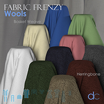 Fabric Frenzy: Wools PBR Textures and Poser Shaders image 3
