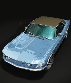 FORD MUSTANG 1967 GT - for VUE  3D Models 3DClassics