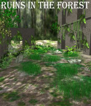 Ruins in the forest Poser 3D Models JeffersonAF