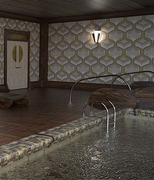 Deco Indoor Pool For Daz Studio Iray 3D Models Imaginary_House