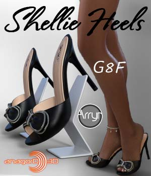 Shellie Heels and Pantyhose G8F 3D Figure Assets Arryn