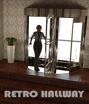 Retro Hallway For Daz Studio Iray 3D Models Imaginary_House
