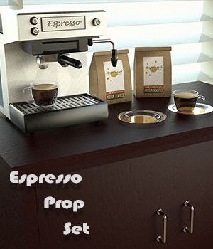 Espresso Prop Set For Daz Studio Iray 3D Models Imaginary_House