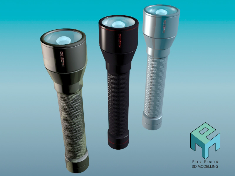 Mini flashlight in 3 versions - Extended license