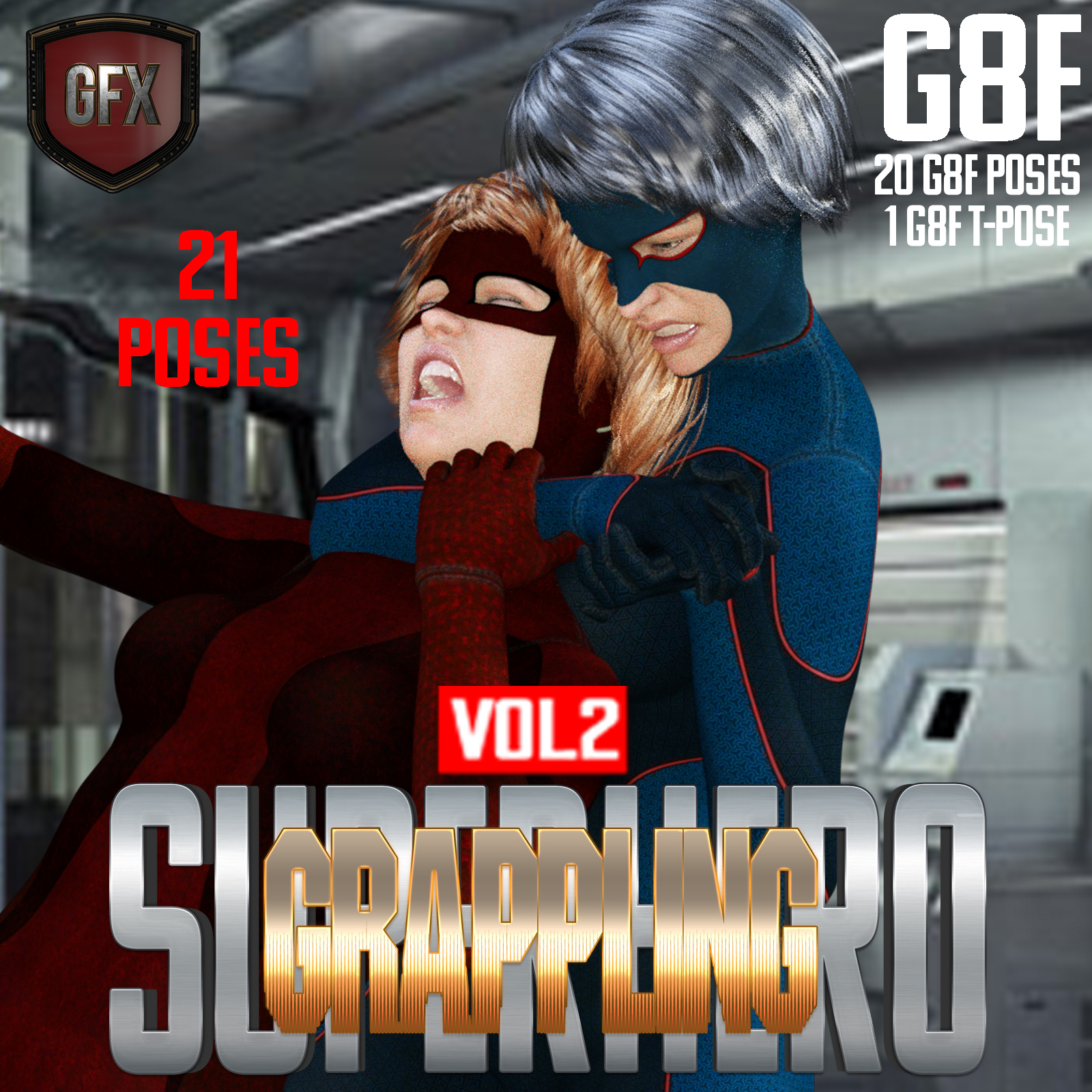 SuperHero Grappling for G8F Volume 2 by GriffinFX