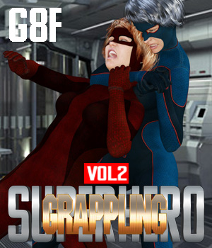 SuperHero Grappling for G8F Volume 2 3D Figure Assets GriffinFX
