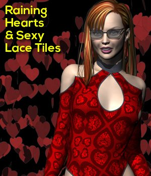 Raining Hearts & Sexy Laces 2D Graphics 3D Models mapps