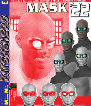 MMKBG3 Mask 022 3D Figure Assets MightyMite