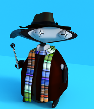 TimeLord outfit for KX Wibi 3D Figure Assets KwiSix