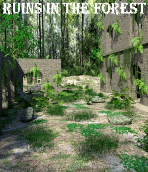 Ruins in the forest DAZ 3D Models JeffersonAF