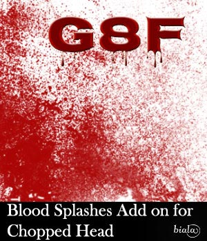Blood Splashes Add on for Chopped Head G8F 3D Figure Assets biala
