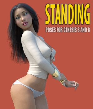 Standing - Poses for G8, G3 and V7 3D Figure Assets hameleon