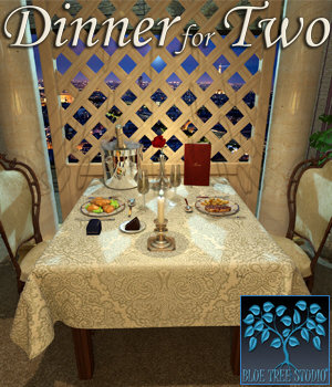 Dinner for Two for Poser 3D Models BlueTreeStudio