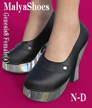 MalyaShoes for Genesis 8 Female(s) 3D Figure Assets Nathalie_