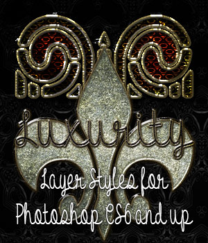 Luxurity Photoshop Styles 2D Graphics antje