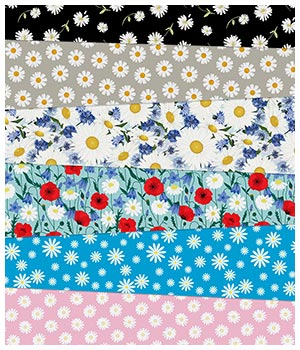 Daisy Fabric Prints 2D Graphics Merchant Resources Medeina