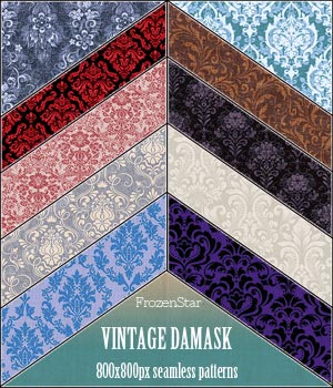 FS Vintage Damask 2D Graphics Merchant Resources FrozenStar