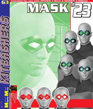 MMKBG3 Mask 023 3D Figure Assets MightyMite