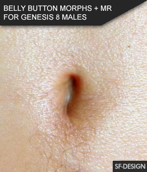 Belly Button Morphs for Genesis 8 Males and Merchant Resource 3D Figure Assets Merchant Resources SF-Design