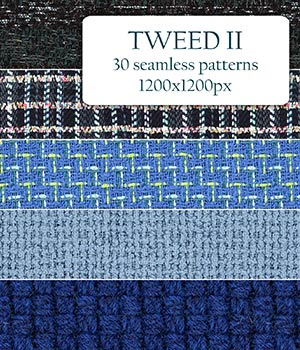 Tweed II - Seamless Patterns 2D Graphics Merchant Resources romawka