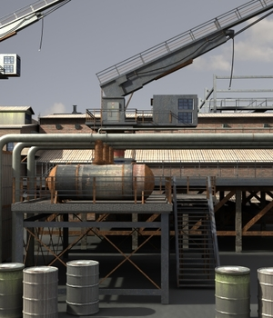 Industrial 3 - Extended License 3D Game Models : OBJ : FBX 3D Models Extended Licenses dexsoft-games