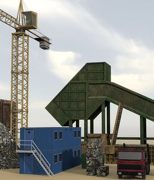 Industrial 9 - Extended License 3D Game Models : OBJ : FBX 3D Models Extended Licenses dexsoft-games