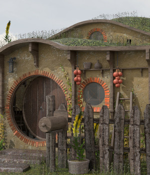 Hobbit House - Extended License 3D Game Models : OBJ : FBX 3D Models Extended Licenses dexsoft-games