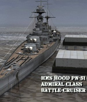HMS Hood (for Poser) 3D Models VanishingPoint
