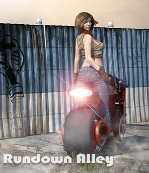 Rundown Alley For Daz Studio Iray 3D Models 3D Software : Poser : Daz Studio : iClone Imaginary_House