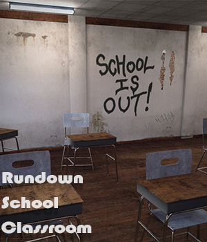 Rundown School Classroom for Daz Studio Iray 3D Models 3D Software : Poser : Daz Studio : iClone Imaginary_House