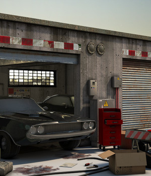 Garage - Extended License 3D Game Models : OBJ : FBX 3D Models Extended Licenses dexsoft-games