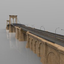 Brooklyn Bridge for 3ds and obj - Extended License image 3