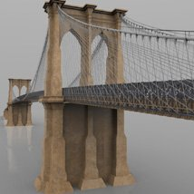 Brooklyn Bridge for 3ds and obj - Extended License image 4