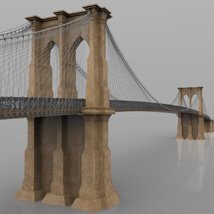 Brooklyn Bridge for 3ds and obj - Extended License image 5